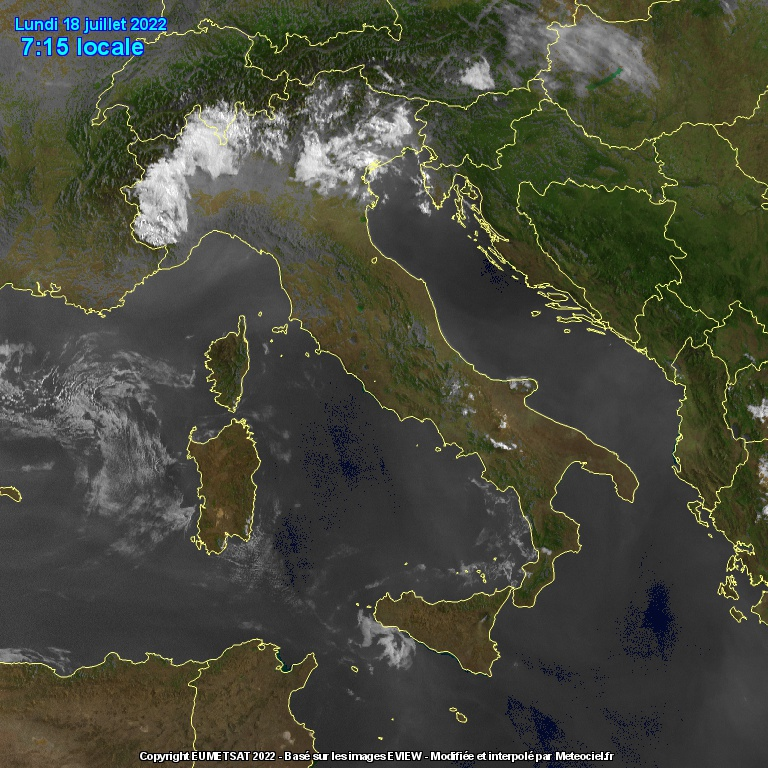 Italia vista dal satellite