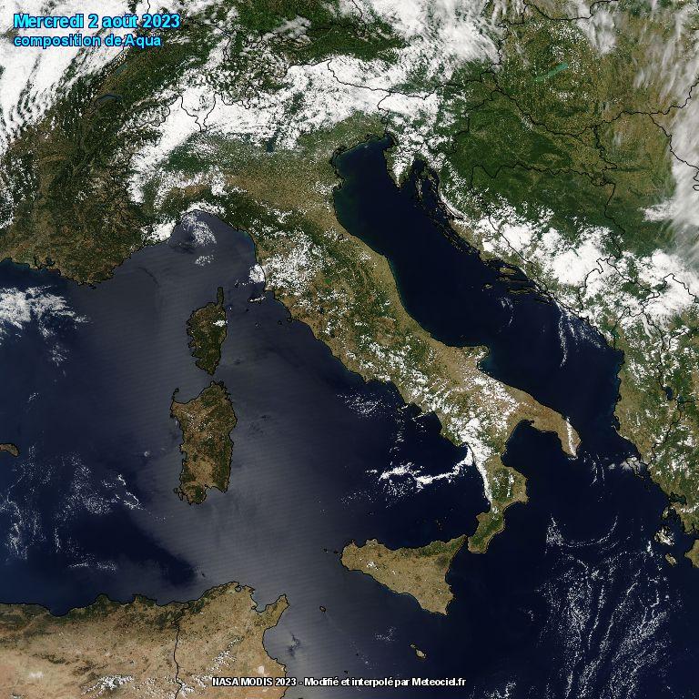 L'Italia dal satellite polare Aqua