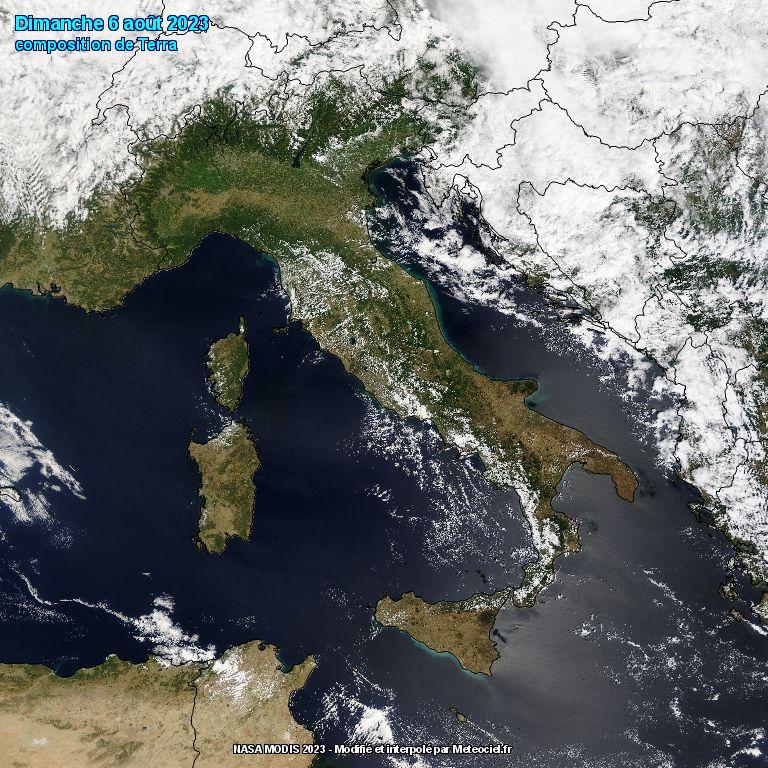 Immagine Italia dal satellite Terra