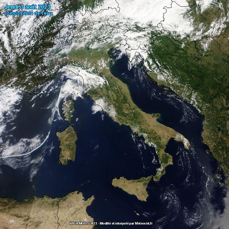 L'Italia dal satellite polare Terra