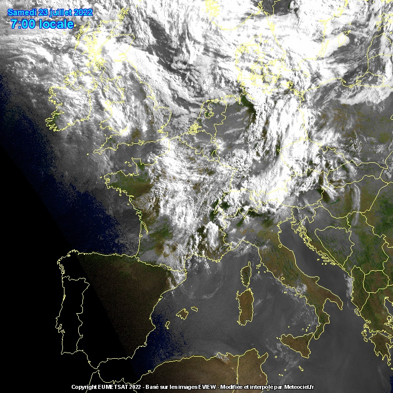 Satellite Infrarouge Meteosat IR