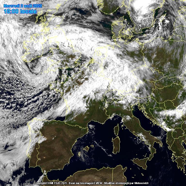 Satellite Infrarouge Meteosat IR
